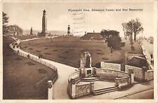 uk17405 smeaton tower and war memorial plymouth hoe real photo uk