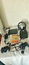 Playstation 2 Slim SCPH-70004 mit 2 Controllern Lenkrad und ein PS2 Spiel Play3