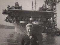 USS Essex CV-9 Aircraft Carrier Vought F4U Corsair Planes on Deck Free Shipping