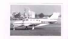 Antique real photo rppc post card Aviation Cessna 401-G-BSIX Culinair Ltd.