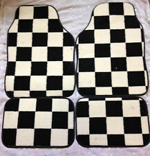 BMW X3 1 X4 X5 X6 M3 M4 M5 CHEQUERED CHECK FLAG CAR FLOOR MATS HEAVY DUTY CARPET