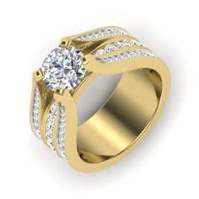 18kt Yellow Gold 1.90 Ct Diamond Engagement Ring Fine Diamond Ring Round Cut