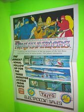 Taito NINJAWARRIORS Original NOS 1988 Video Arcade Game Poster Flyer Electrocoin