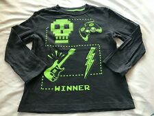 CRAZY 8 BOYS GAMING GRAY TOP SIZE S(5-6)