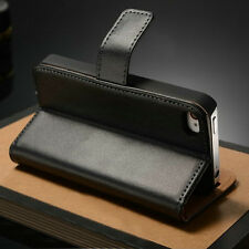 Genuine Leather Magnetic Case Stand Wallet Flip Cover For iPhone/Samsung/Sony