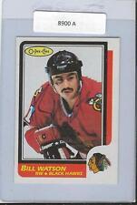Bill Watson 1986 OPC Autograph #151 Blackhawks