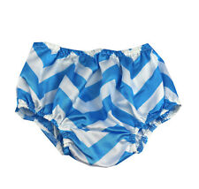 1st Birthday boy cake smash  bloomers diaper cover 12 mo Blue white chevron
