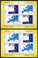 Rumänien MiNr. Block 425 I + II postfrisch MNH Cept Der Brief (G849