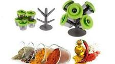 6Pcs Set Pop Up Spice Rack Stylish Kitchen Rack Storage For Spices,sugar,salt
