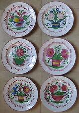 6 assiettes faience ancienne Saint Clement petit feu