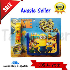 MINIONS GIFT DESPICABLE ME 3 TOYS - KID BOY ACCESSORIES WATCH WALLET PURSE