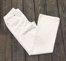 Chicos Womens Divine Twill Barely Flare Chino Pants Beige Size .5 (Approx 6) NWT