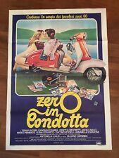 MANIFESTO 2F Z ,ZERO IN CONDOTTA,1983, RICCI,VESPA LAMBRETTA INNOCENTI MOTO SEXY