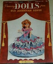 J234 J & P COATS, PRESENTING DOLLS FROM OLD AMERICAN SONGS 1952 ~ 14 DESIGNS