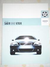 Volvo S60 R & V70R range brochure 2006 German text