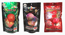 OKIKO High Quality Flowerhorn and Cichild Fish Food 3x100g. H-P-C Pellet Size L