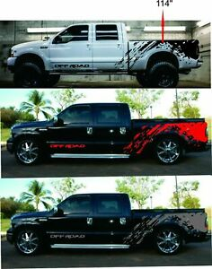Decal Graphic Side Stripe Kit for Ford F250 ( Colors : Black , Red , Grey )