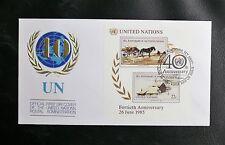 NATIONS UNIES NEW YORK BLOC FEUILLET N° 8 (THEME CHEVAL)  - Oblitéré 26 06 1985