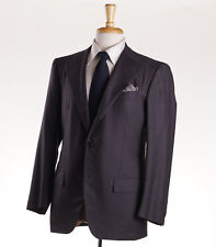 NWT $8995 KITON Charcoal Gray Super 180s Wool Suit 38 S Short Classic-Fit