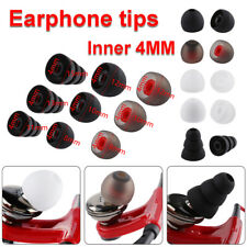 Silicone Replacement 4MM In-ear Earphone Earbuds Tips Cover Cap Rubber Universal