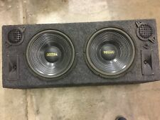 """Double Dual 12"""" Custom Ported box MDF enclosure for 2 x 12"""" sub subwoofer"""