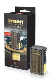 Areon Car Perfume Luxury and Elegant 0.27 oz Vent Clip Air Freshener, Gold Scent