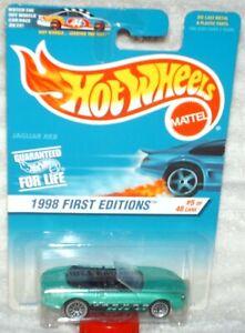 Hot Wheels 1998 First Editions #5 Jaguar XK8 aqua,ex.card, I Combine Shipping