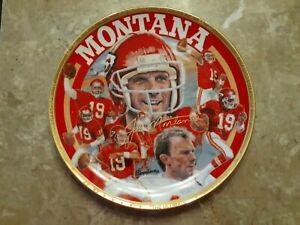 "Joe Montana Kansas City Chiefs 10 1/2""Sports Impressions Gold edition plate"