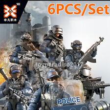 6PCS/Set Military Special SWAT Police Building Bricks Figures Educational Toys