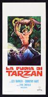 L101 Cartel El Furia Por Tarzan Lex Barker DE TARZÁN Savage Fury