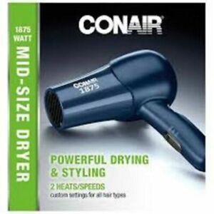 Conair 1875 Watt Mid-Size, 2 Speed/Heat Styler Hair Dryer Blue