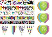 SORRY YOU'RE LEAVING PARTY DECORATIONS BANNERS BALLOONS BUNTINGS