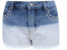 Denim Shorts Studded Hot Pants for Women