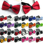 Men's Bow Tie Banquet Bowtie Classic Adjustable Wedding Solid Color Neckwear
