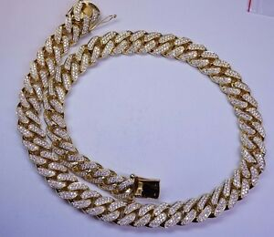 100 Carats Diamond 1 Kilo Solid Yellow Gold Miami Cuban Link Chain 22 MM ASAAR