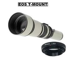 Bower 650-1300mm (650TC) Telephoto Lens for Canon EOS DSLR Camera (View models)
