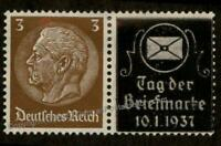 Germany Hindenburg Kabe Tag der Briefmarke Advertising Se-Tenant ZSD 88470