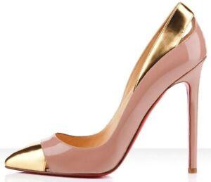 Christian Louboutin Duvette 120 Patent Calf Specchio Heels Size EUR 36 UK 3