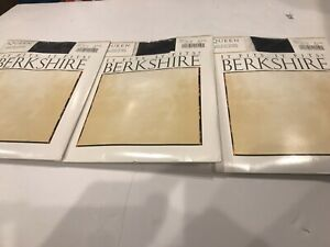 Berkshire Womens Plus-Size Queen All Day Pantyhose 3x-4x Navy LOT of 3