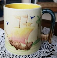 More details for vintage 1930s bretby pottery musical tankard