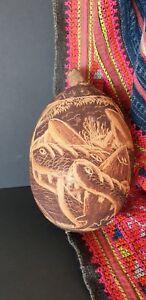 Old Australian Aboriginal Carved Kimberley's Boab Nut …beautiful signed...