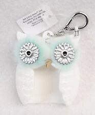 1 Bath & Body Works LIGHT UP WHITE OWL Blue Pocketbac Holder Case Sanitizer Clip