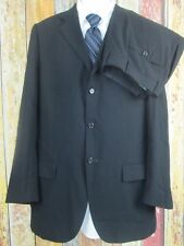Polo Ralph Lauren x Corneliani Black Wool 2 Piece Suit 42 Long 34x32