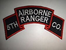 Korea War (1950-53) Scroll Us 5th Ranger Infantry Company (Airborne) Patch