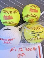 Worth Red Dot ,Thunder sx 12 In.Yellow Softball Training Practice See desc ( E )