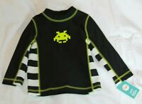 NEW-Circo Rash Guard Black Striped (18months) Long Sleeve (Discontinued Style)