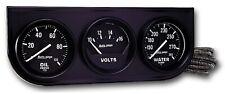Auto Meter 2397 Universal Black Mechanical 2 116 Oilwatervolt Gauge Console