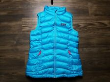 Patagonia Girls' Down Sweater Vest Blue Size XL (14)
