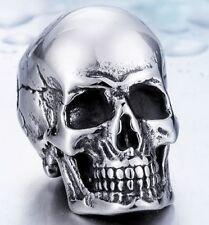 Edelstahl Anhänger Skull Totenkopf Death Head Gothic EMO Biker Rocker  NA34
