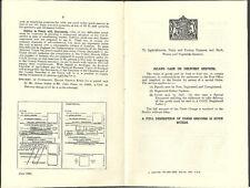 Ufficio postale per il contrassegno servizio 8 pagina originale del produttore OPUSCOLO GIUGNO 1930